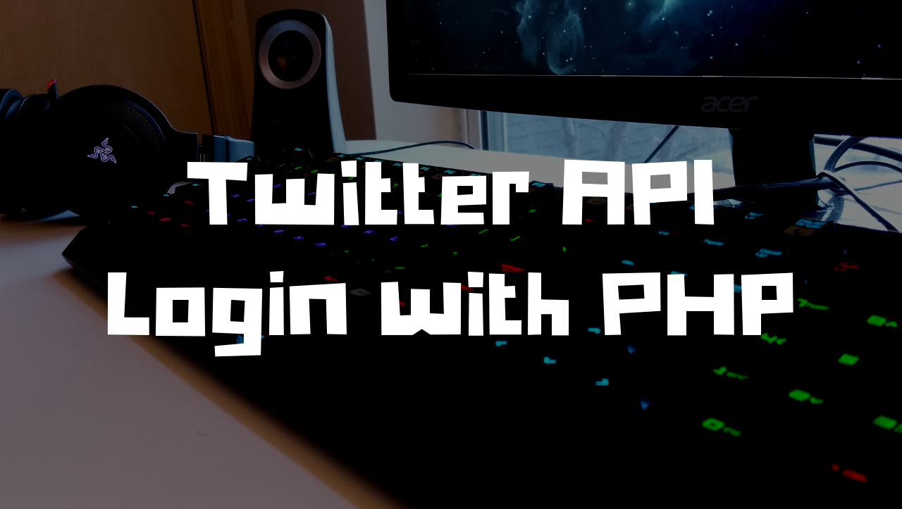 twitter api login with php
