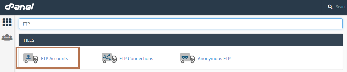 ftp cpanel